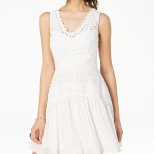 City Studio white lace eyelet tank dress